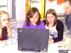 Johanna Müller,Lia Rombach und Julia Schawo beim Projekt Hörspiel