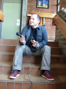 Herr Lorig bei der Arbeit