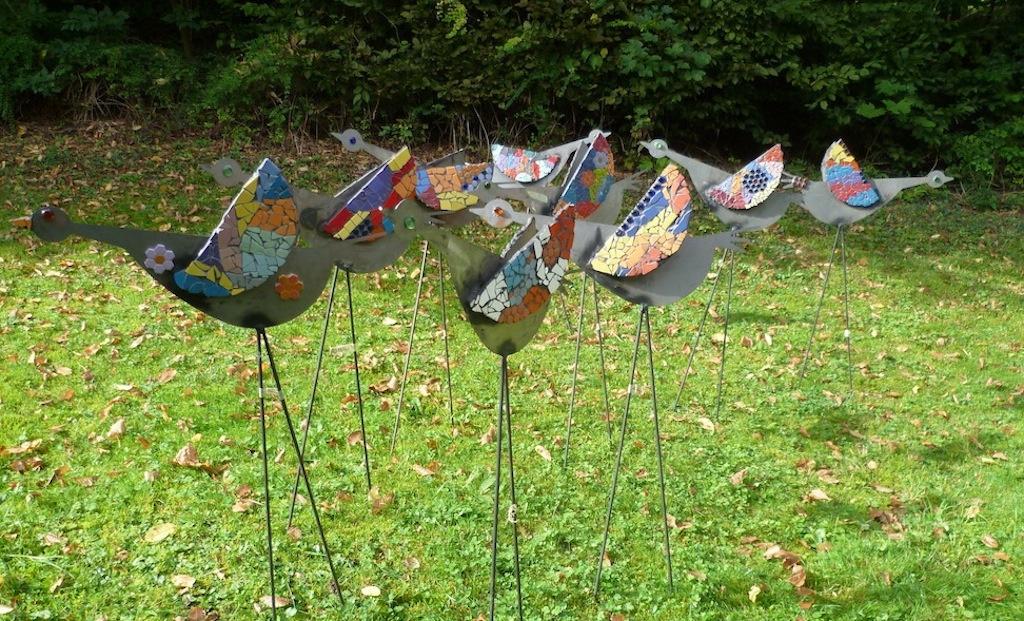 7b verkauft kunstobjekte v gel integrierte gesamtschule for Gartenobjekte aus metall