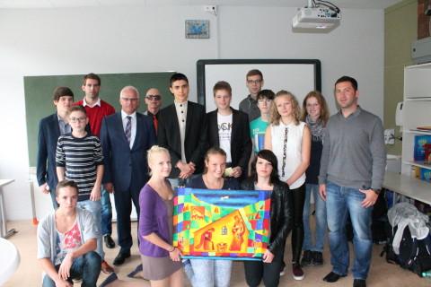 Gruppenfoto mit Herrn Bleser
