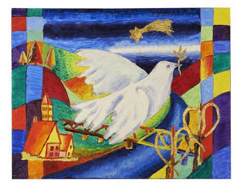 Weihnachtskarte Taube