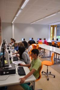 Online-Gruppe bei der Arbeit